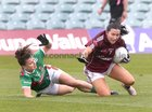 Galway v Mayo 2019 TG4 Connacht Ladies Senior Football Final replay at the LIT Gaelic Grounds, Limerick.<br /> Charlotte Cooney, Galway, and Kathryn Sullivan, Mayo