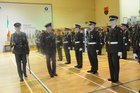 <br /> Brigadier General GOC !st Brigade, with Lt Niall McCormack, inspects the Recruits  at the 146th Recruit  Platoon Passing Out Parade at Dun Uí Mhaoilíosa Renmore.