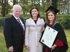 Olivia Bane from Headford, who was conferred with the degree of B Sc Honours at NUI Galway, pictured with her parents Aidan and Martha.