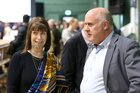 Returning Officer Marian Chambers Higgins and Galway West Independent candidate Noel Grealish during a break at the Galway West count in Galway Lawn Tennis Club.