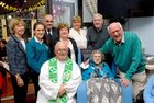 <br /> Kitty Kelly, celebrated her 104th Birthday, with Rev John Hughes, OSA Augustinian Church  and former Neighbours from Bowlingreen Maire Ni Chionna, Zina Ni Chionna, Oliver Burke Phyllis King, Ursula Mulkerrins, Michael John Burke  and John Tierney.