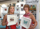 Artist Carol Kelly and her mother Maureen Kelly, Ballinasloe, at the Galway International Food and Craft Festival in Salthill Park last weekend. They ar at Carol's display of some of her work consisting of enamel glass fused on hand crafted copper.