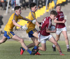 Galway v Roscommon Minor Football Championship game at Tuam Stadium.<br /> Matthew Cooley, Galway, and Sean Trundle and Dylan Gaughan, Roscommon