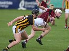Galway v Kilkenny Under 20 Leinster Championship Hurling semi-final in Bord na Mona O'Connor Park, Tullamore.<br /> Galway's John Fleming and Kilkenny's Conor Heary