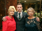 Intermediate goalkeeper Darren Waller with his mother Regina and grandmother Nora O'Toole at Oughterard GAA Victory Social in the Salthill Hotel.