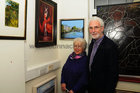 <br /> Colette and Joe O'Donnell, Whitestrand Ave,  at the Galway Art club 80th Year Exhibition  at Kennys Art Gallery Liosban Industrilan Estate Tuam Road.
