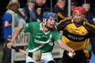 Moycullen's, Niall Mannion,<br /> and<br /> Four Roads, Tomas Lennon,<br /> during the Connacht Intermediate Club Hurling Championship Final at Athleague.