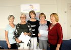 <br /> Committe members Rosemary Finlay, Lily Considine, Chairperson; Anne Marie McGreevy, kathy Eastwood, Secretary and Jackie Keane, of the Active in Age Oranmore meeting in the Blue Room Respond , Ard na Mara, Oranmore.<br /> <br />