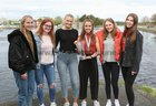 Katie O'Brien with Galway Rowing Club colleagues Maeve Quinn, Nadia Daly, Evelina Zakarauskaite, Crea Elwood and Mollie Connolly.<br />