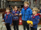 The reception and distribution service of the Peace Light of Bethlehem, an ecumenical service of friendship and peace involving 22 Galway Scout groups, the Polish Scouts of Galway and the Irish Girl Guides of Galway at Galway Cathedral.