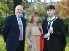 Cian O'Connell, Newcastle Park, who was conferred with a Bachelor of Arts with Creative Writing at NUI Galway, pictured with his parents Dave O'Connell and Teresa Mannion.