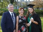 Samantha Burke from Cregmore, Claregalway, pictured with her parents Thomas and Assumpta after she was conferred with the degree of B Sc, Honours, in Mathamatical Science, at NUI Galway.