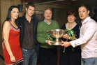 Attending the Gort GAA Victory Dance at Sullivan's Hotel, Gort, <br /> (from left),<br /> Niamh Killilea, Darragh, Sylvie, Margaret and Tadhg Linnane.