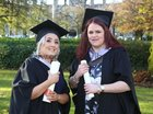 Laura Stone, Castlegar, and Claire Gilmore, Shantalla, who were both conferred with a Higher Diploma in Midwifery at NUI Galway.