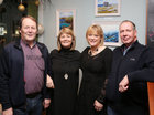 "Brian McEnery, Claddagh, Vicky Harkin, Barna, and Mary and Karel Verbruggen, Oughterard, at the opening of ""Buíochas-Gratitude"", Angeline Cooke's new exhibition of paintings, dedicated to all organ donors. The exhibition, inspired by the Circle of Life National Organ Donor Commemorative Garden in Salthill, is on display in Renzo Café, Eyre Street, until 12th January 2020. Proceeds from the sale of paintings will go to Strange Boat Donor Foundation. <br />"