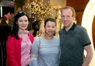 Martina O'Neill and Krestine O'Neill from Ardrahan, and Brendan Nohilly, Cummer, at the Lough Rea Hotel & Spa Wedding Showcase.