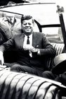 President John F Kennedy visited Galway in June 1963, five months before his assassination. <br /> <br /> He landed in a helicopter at the Sportsground in College Road where he was greeted by Mayor of Galway, Paddy Ryan. <br /> <br /> They proceeded by motorcade to Eyre Square where the President made a speech and was conferred with the freedom of the City. <br /> <br /> The motorcade then went through the town to Salthill where the President was taken by helicopter from the car park beside Seapoint to Limerick.<br /> <br /> Our photographer Stan Shields was waved through the security cordon by Mr Kennedy so that he could get this shot.