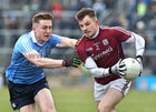 Galway v Dublin Allianz Football League Division 1 game at the Pearse Stadium.<br /> Galway's Eoghan Kerin and Dublin's Paddy Small