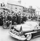 President John F Kennedy visited Galway in June 1963, five months before his assassination. <br /> <br /> He landed in a helicopter at the Sportsground in College Road where he was greeted by Mayor of Galway, Paddy Ryan. <br /> <br /> They proceeded by motorcade to Eyre Square where the President made a speech and was conferred with the freedom of the City. <br /> <br /> The motorcade then went through the town to Salthill where the President was taken by helicopter from the car park beside Seapoint to Limerick.<br /> <br /> The Presidential motorcade in Salthill before boarding helicopters from the car park.