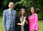 Dr. Amelia Hogan from Menlo with her parents Tom Hogan and Jeanette Haynes after she was conferred with the degrees of M.B B.Ch. B.A.O., Honours, at NUI Galway.