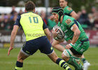 Connacht v Leinster Guinness PRO12 game at the Sportsground.<br /> Connacht's Jake Heenan and Leinster's Ross Byrne