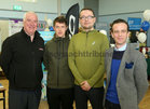 Myles McHugh, Spar, Bluebell Woods, Ronan Keville and Adam Lawless, Gotta Run, and Michael Burke, Wolf & West Menswear, at the Bank of Ireland Enterprising Town competition hosted at Oranmore Community Centre.