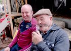 <br /> Martin Forde, Clarinbridge and P.J. Ruane, Skehana, relaxing at the Clarinbridge Market Day.