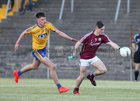 Galway v Roscommon Minor Football Championship game at Tuam Stadium.<br /> Cathal Sweeney, Galway and Shane Cunnane, Roscommon