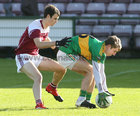 Claregalway v Williamstown Intermediate Football Championship final at the Pearse Stadium.<br /> Mark Rohan, Claregalway, and David Lyons, Williamstown