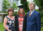 Dr. Ciara Moran from Monaghan, with her parents Margaret and Tom, after she was conferred with a B.Sc in Speech and Language Therapy at NUI Galway.