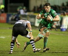 Connacht v Zebre Guinness PRO14 game at the Sportsground.<br /> Connacht's Eoghan Masterson and Zebre's Oliviero Fabiani