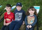 Ben, Max and Elia Wall Cooke from Knocknacarra at the Galway Regatta last Sunday.
