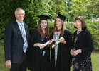 Eugene and Elizabeth Macken from Dangan with their twin daughters, Dr. Esther (left) and Dr. Lilly Macken who were both conferred with the degrees of M.B. B.Ch. B.A.O., Honours, at NUI Galway. Esther was also awarded 5 Final Medical Medals for her outstanding academic performance.