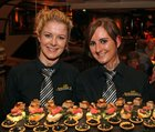 Maeve-Ellen Moyles and Eadaoin Coyle at the opening of the Balcony Restaurant at Tom Sheridans, Knocknacarra.