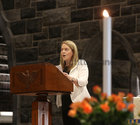 Caitriona Lee singing before the start of the annual Solemn Novena at Galway Cathedral