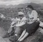 Director John Ford and actor Maureen O'Hara photographed during the filiming of The Quiet Man in Mayo & Galway in June 1951.