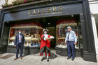 Galway Town Crier Liam Silke, who was out on the city centre streets on Monday, outside Fallers Jewellers welcoming back shoppers and thanking staff, and business owners who have been able to reopen, after the easing of Covid-19 restrictions.