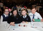 <br /> The Gaelscoil Mhic Amhllaigh team Caoimhe Ni Flaithinkin, Rebecca Breathnach, Alan o Hearchai and Patrick O Hearchai,  at the Credit Union National Schools Table Quiz in the Galway Bay Hotel, Salthill.
