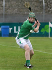 <br /> Moycullen's, Matt Donoghue, during the Senior Hurling Championship at Athenry.