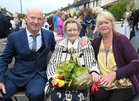 100 years old Eileen Molloy with her son Tommy Molloy and daughter Maureen Geary.