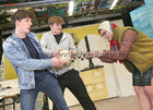 "Colaiste Iognaid students Rory O'Flynn, John Flannery and Anna O'Donoghue during rehearsals for their musical ""Hot House"". The in-house production will run in the Jesuit Hall at the school in Sea Road from Tuesday March 13 to Thursday March 15."