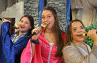 Elise Gaughan (Ruby), Isabelle Gibbs (Debbie) and Molly Fawl (Tara) at rehearsals for the Dominican College, Taylors Hill, musical 'Thank you for the Music' which will run nightly at 8pm from Thursday January 31 to Saturday February 2 in the Rosary Hall at the college.