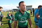 Ray Ofisa leaves the pitch after playing his last game with Connacht in the RaboDirect PRO 12 game against Aironi at the Sportsground last Saturday.
