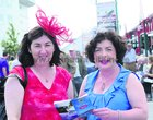 Aine Mannion and Kay Ryder, Headford, at the Races on Tuesday evening