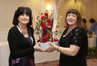 Pictured at the Galway Flower and Garden Club Christmas Gala Night in the Menlo Park Hotel were Marian Colohan, exhibitor, and Eileen Walsh, Club President.