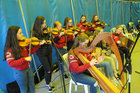 <br /> Lackagh Comhaltas under 8, entertaining  at the International Medieval Combat Tournament at Claregalway Castle.