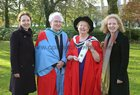 Dr Máire O'Connell of Beach Court, Grattan Road, who was conferred with a PhD at NUI Galway this week, pictured with her husband, Professor Michael O'Connell of NUI Galway, and their daughters Dr Niamh and Emer O'Connell. Emer is Irish Ambassador to Poland.