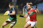 Oughterard v The Neale Connacht Intermediate Football Final at MacHale Park, Castlebar.<br /> Enda Tierney, Oughterard, and Daragh Moran, The Neale