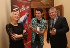 Mayor of County Galway, Cllr Michael Maher, with Louise Colohan, chairperson, and Conor Hanley at a reception at the Lough Rea Hotel where detials of St. Brendan's Choral & Dramatic Society's production of the musical Footloose were announced. The show will run at the Temperance Hall Loughrea from November 27 to December 3. Louise plays the part of Ariel and Conor plays Ren in the musical.