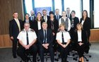 The Galway Divisional Protection Service Unit, Seated from left: Chief Supintendant Tom Curley, Detective Inspector Michael Coppinger, Assistant Commissioner Orla Mc Partlin and Detective Stephanie Igoe, Standing  from Left: Detectives Fergus Gaughan, Lisa Clarke, Padraic Healy, Danielle Kennedy, Greg Gander, Laura Burns, Paddy Costello, Roisin Ni Chathain, Adrian Fehily, Stephanie Moylan and Linda Cusack.